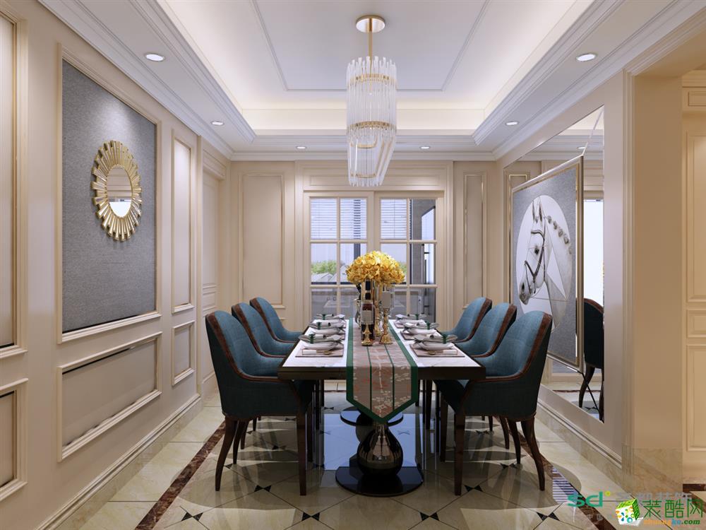 富阳4室2厅装修—【圣都装饰】120㎡简美风格设计效果图