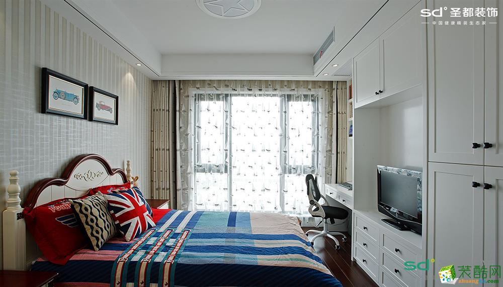 富阳142�O三室两厅装修―【圣都装饰】简约风格设计效果图