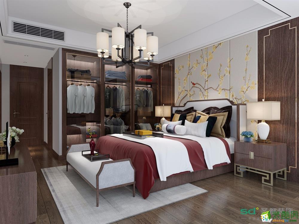 富阳3室2厅装修―【圣都装饰】125�O新中式风格设计效果图