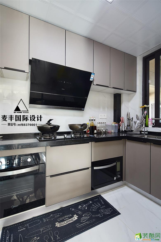 富阳89�O两室两厅装修―麦丰装饰现代风格设计效果图
