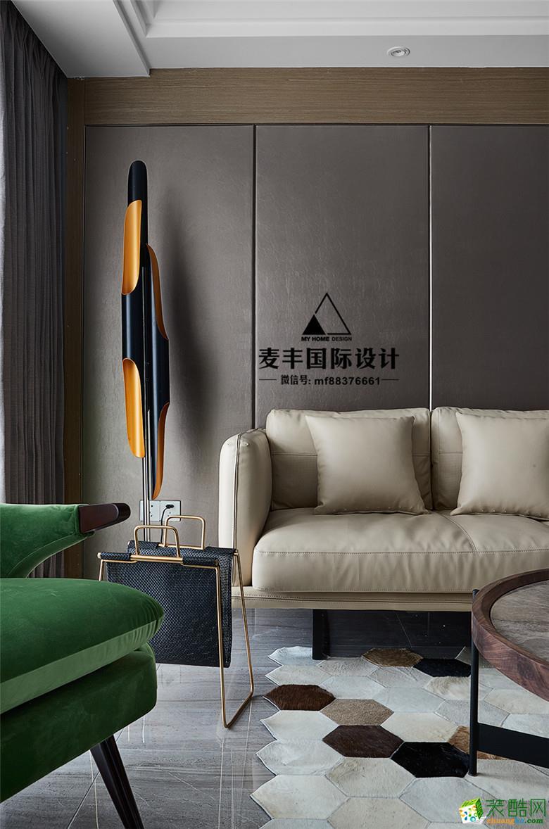 富阳120�O三室一厅装修―麦丰装饰后现代风格设计效果图
