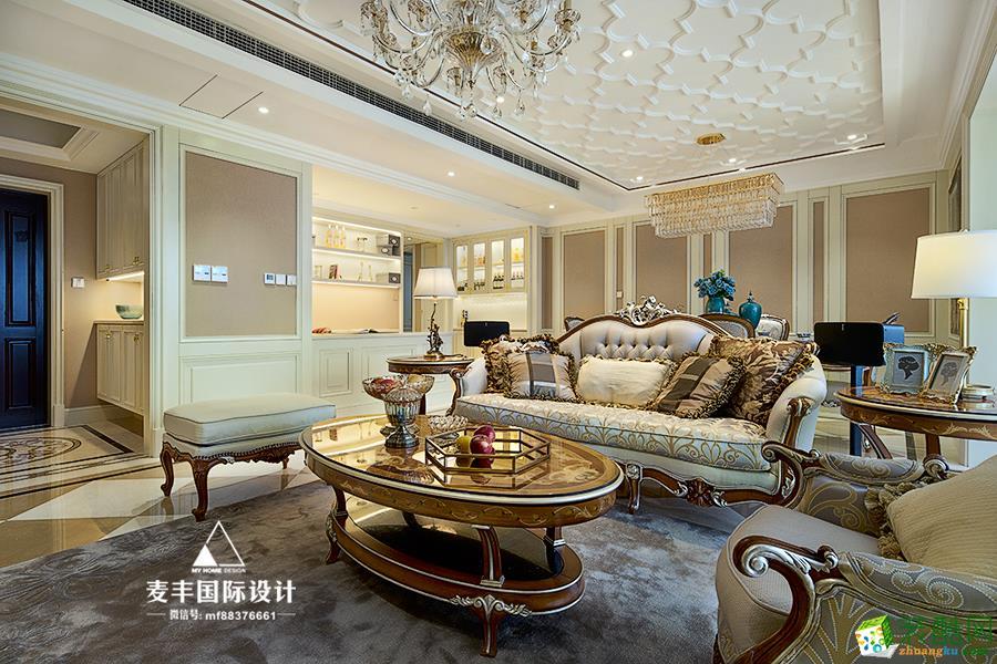 富阳198�O别墅装修―麦丰装饰法式轻奢风格设计效果图