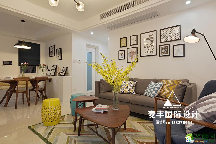 富阳89�O两室两厅装修―麦丰装饰北欧风格设计装修作品