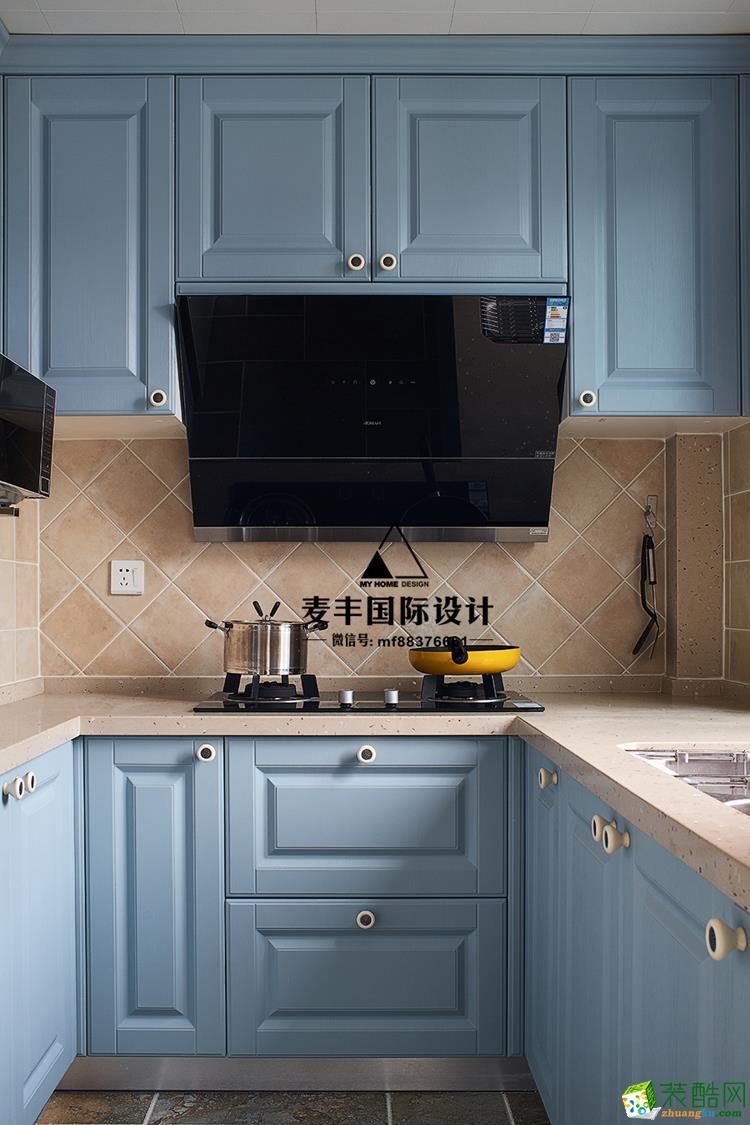 富阳100�O三室一厅装修―麦丰装饰简美风格设计效果图