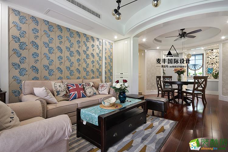 富阳三室两厅装修―麦丰装饰美式风格设计效果图