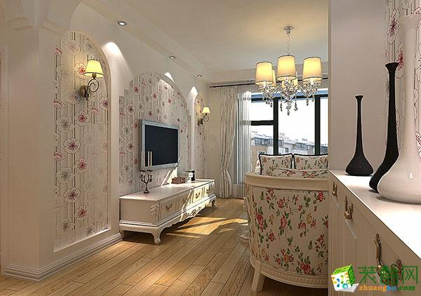 黔江90平米三室两厅美式风格案例顾家装饰效果图