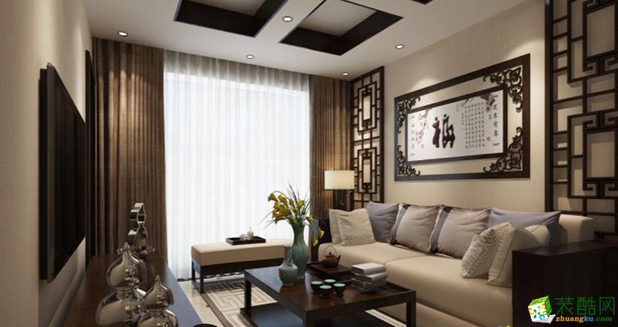 黔江90平米三室两厅中式装修效果图-凯泽装饰设计