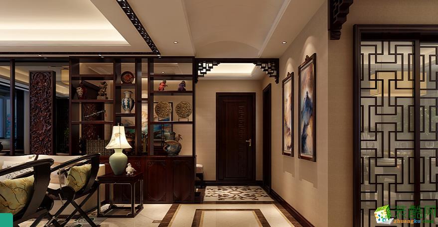>> 黔江90平米三室两厅中式装修效果图-凯泽装饰设计