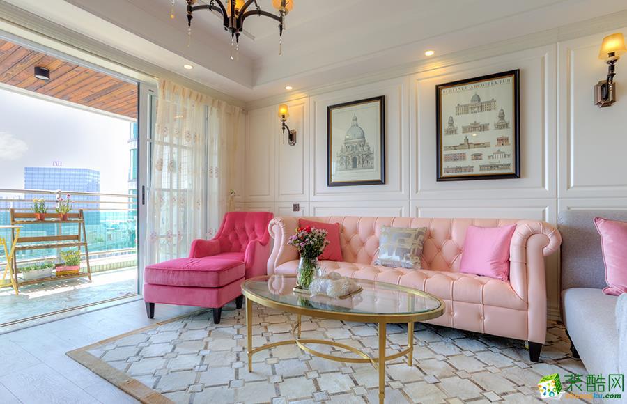 黔江95平米三室厅欧式风格效果图-祥信堂装饰