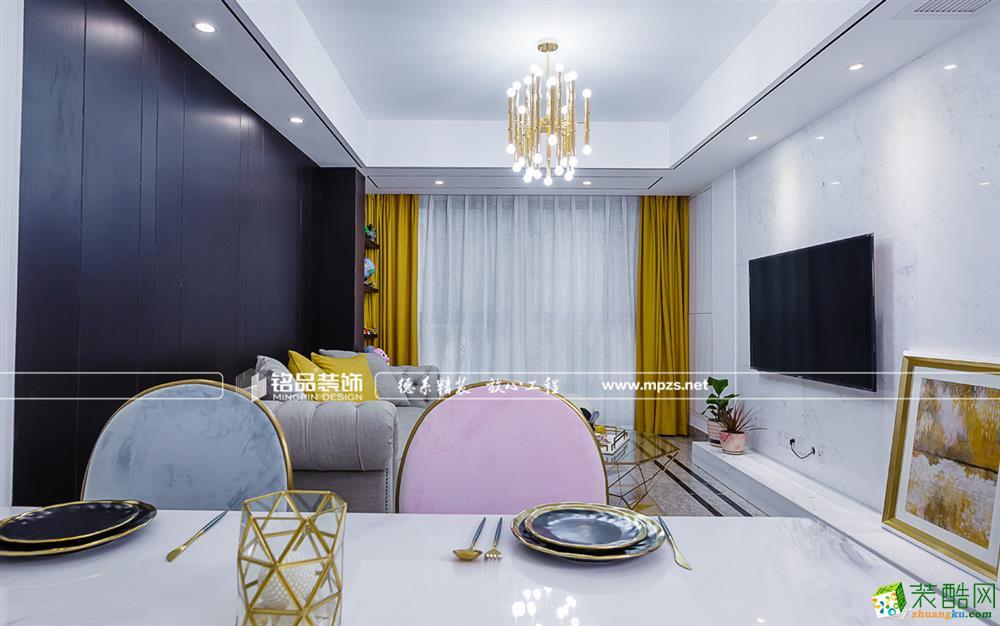 桐庐125�O三室两厅装修―铭品装饰港式轻奢风格设计作品