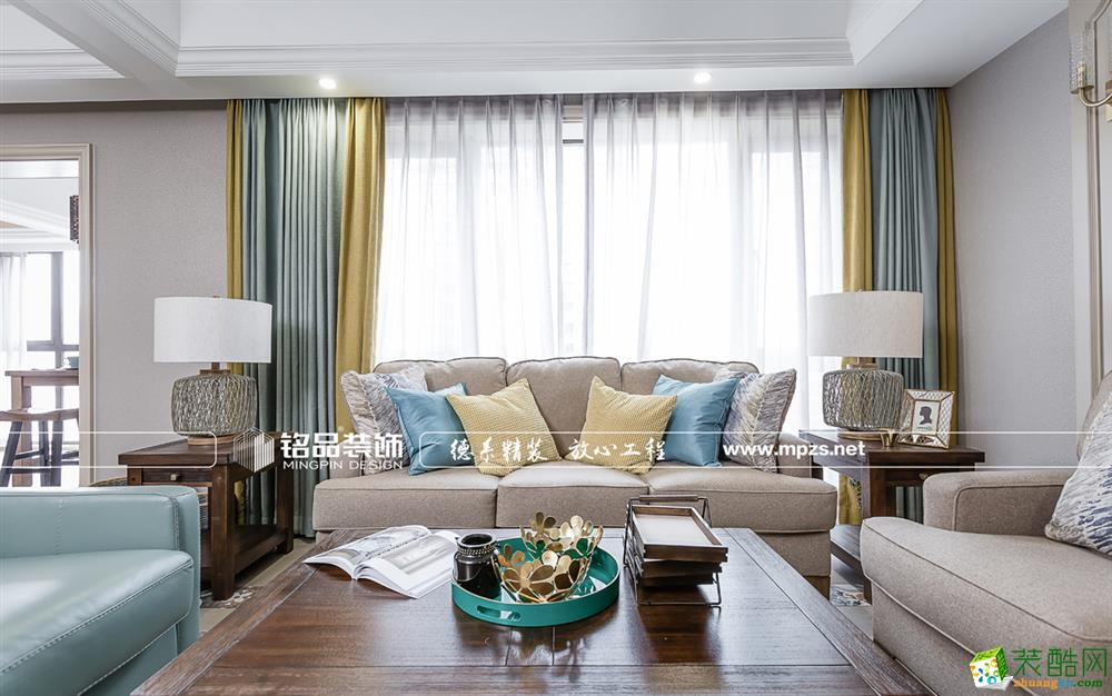 桐庐150�O四室两厅装修―铭品装饰美式风格设计效果图