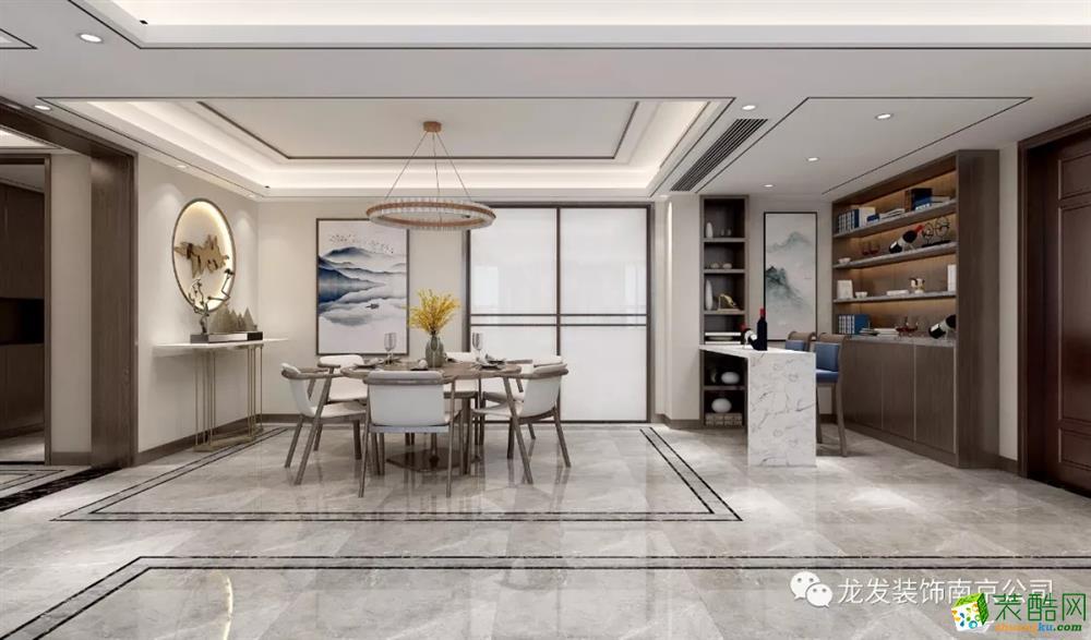 南京鲁能泰山七号院350平方米现代中式风格 | 南京龙发装饰