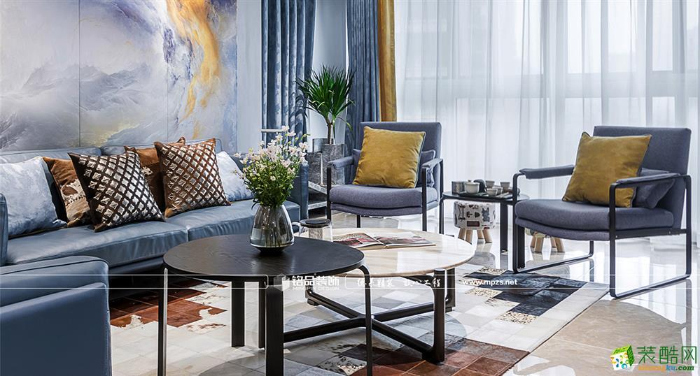 桐庐100�O三室一厅装修―铭品装饰现代简约风格设计作品案例