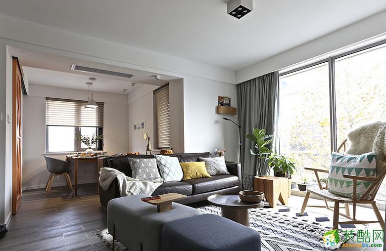 客厅 重庆87平米两室两厅装修 北欧风格装修案例图赏析 -维享家装饰 维享家87平北欧风