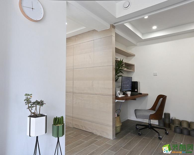 书房 重庆87平米两室两厅装修 北欧风格装修案例图赏析 -维享家装饰 维享家87平北欧风