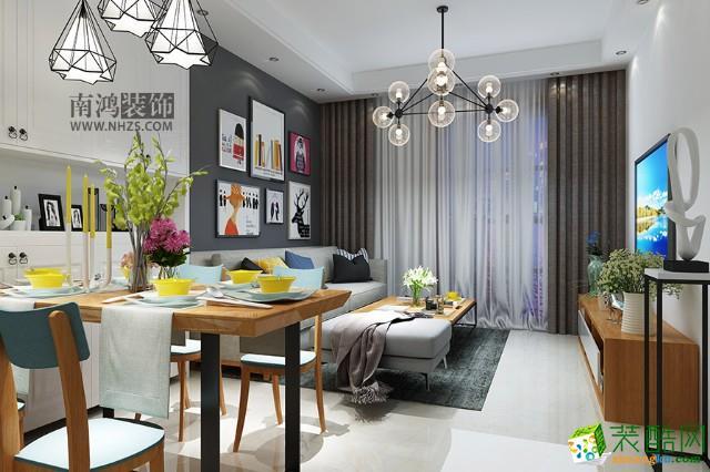 淳安100�O三室一厅装修―南鸿装饰北欧现代风格设计作品