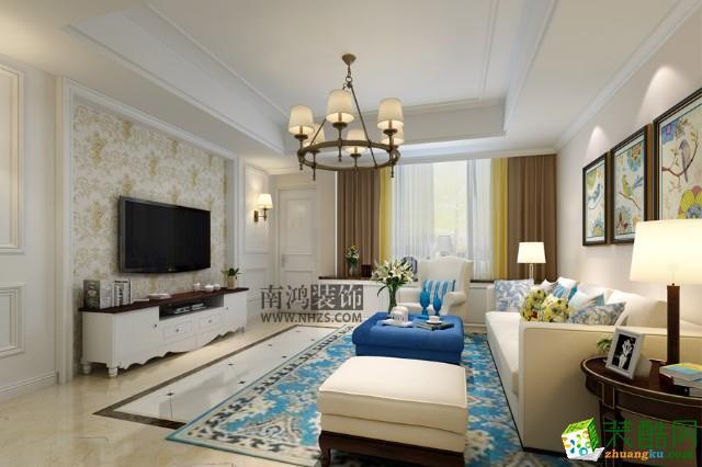 淳安142�O四室两厅装修―南鸿装饰简美风格设计效果图