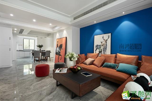 淳安三室两厅装修―南鸿装饰125�O北欧风格设计效果图
