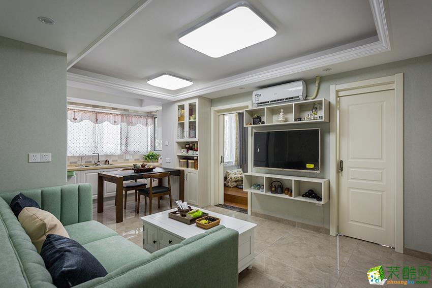 临安80�O三室一厅装修―九鼎装饰现代简约风格设计效果图
