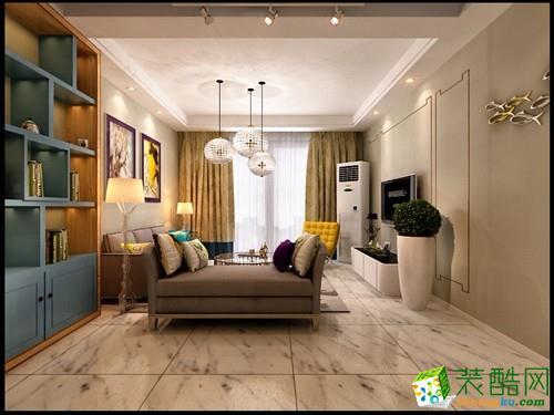 120平三居室现代简约风格装修效果图