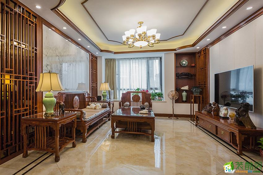 临安三室两厅装修―九鼎装饰125�O新中式风格设计效果图
