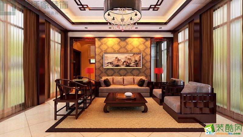 280平独栋别墅中式风格装修效果图