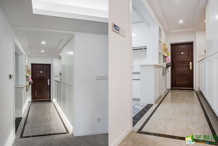 过道吊顶 临安89㎡两室两厅装修—九鼎装饰清新北欧风格设计效果图 临图片