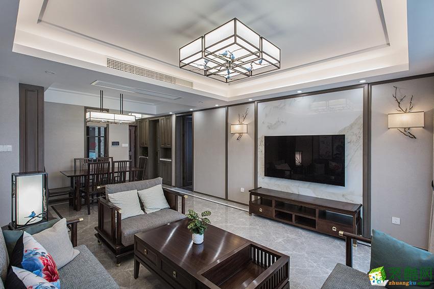 临安130�O三室两厅装修―九鼎装饰新中式风格设计效果图