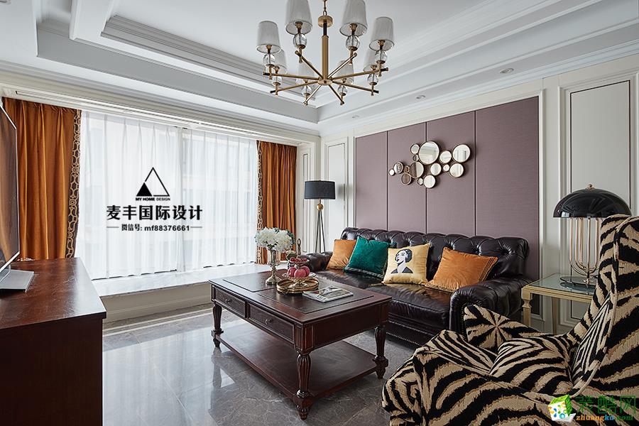 临安三室两厅装修―麦丰装饰美式风格设计效果图