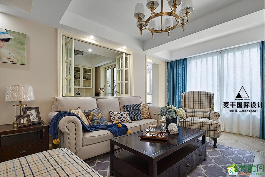 临安110�O三室一厅装修―麦丰装饰简美风格设计效果图