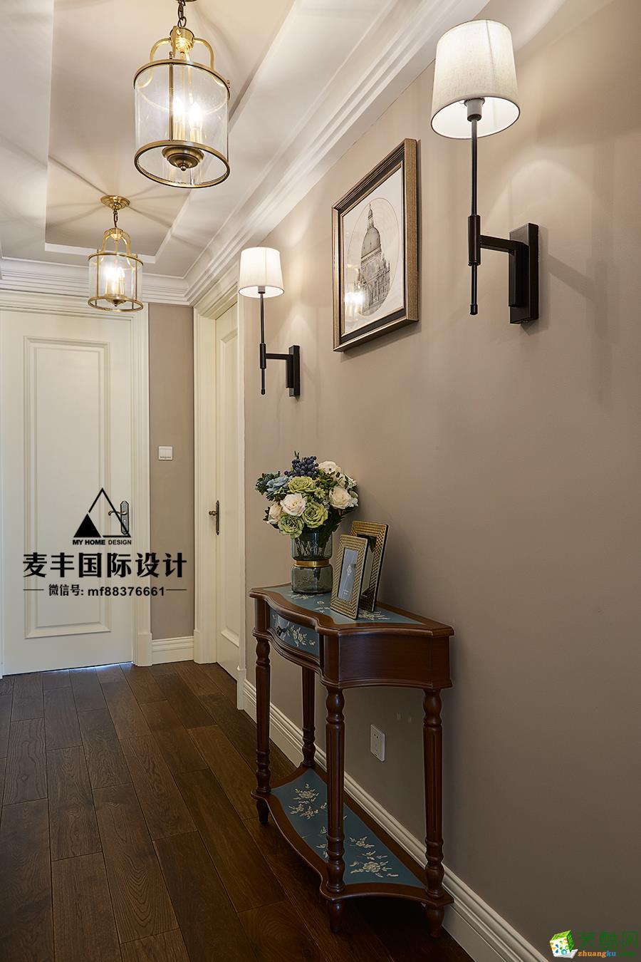 临安四室两厅装修―麦丰设计155�O现代美式风格作品