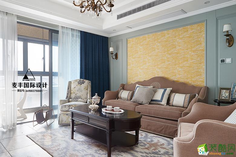 临安120�O三室两厅装修―麦丰装饰法式风格设计作品