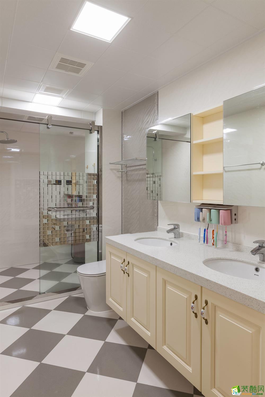 重庆165平三室两厅装修 棕榈泉现代简约风格装修案例赏析-佳天下装饰