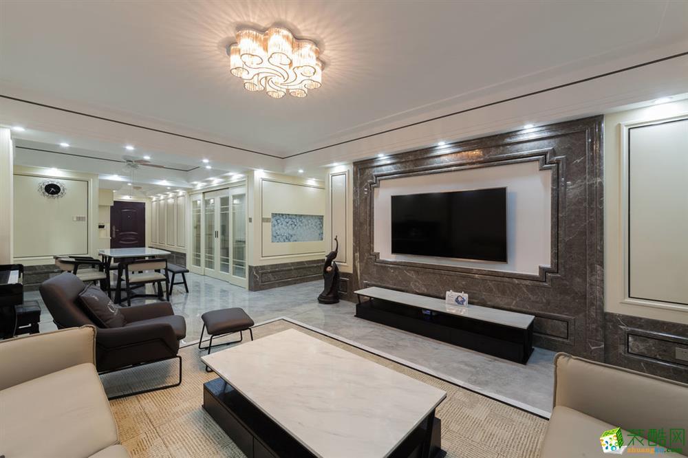 客厅 重庆165平三室两厅装修 棕榈泉现代简约风格装修案例赏析-佳天下装饰 《佳天下装饰》-- 棕榈泉