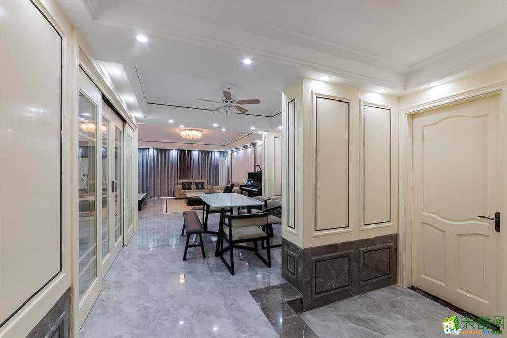 餐厅 重庆165平三室两厅装修 棕榈泉现代简约风格装修案例赏析-佳天下装饰 《佳天下装饰》-- 棕榈泉