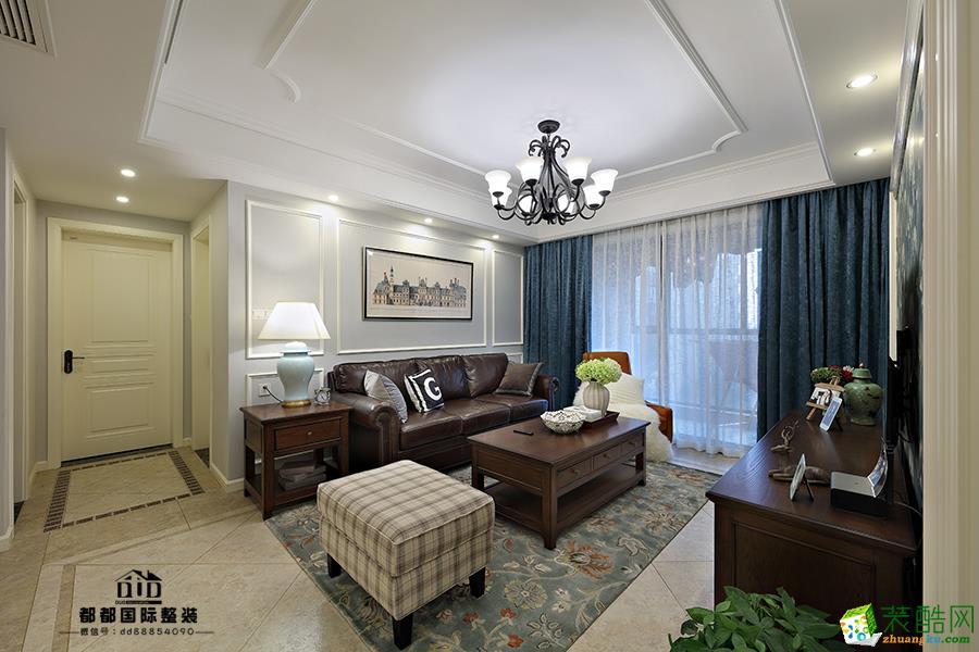 富阳132�O三室两厅两卫装修―都都装饰简美风格设计效果图