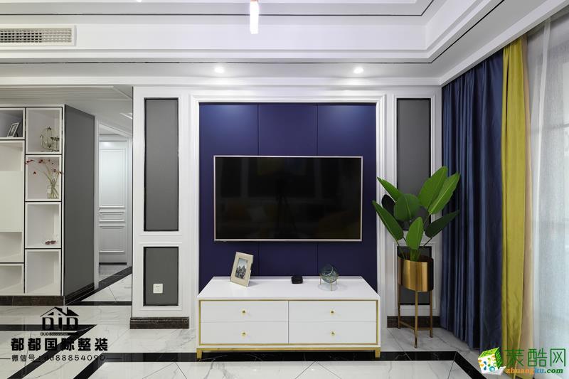 富阳80�O两室一厅一卫装修―都都装饰美式轻奢设计作品