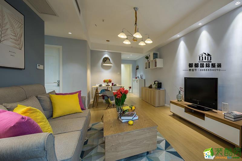 富阳89�O公寓装修―都都装饰现代简约风格设计效果图