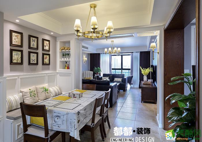 富阳220�O别墅装修―都都装饰简美风格别墅设计效果图