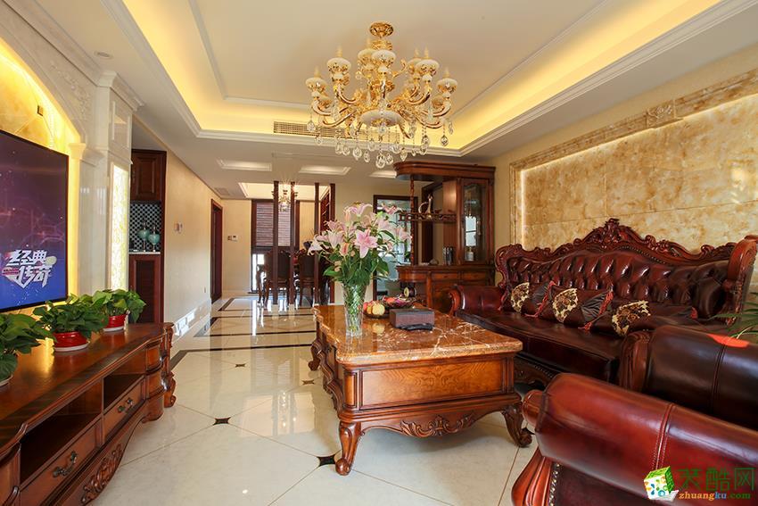 建德市150�O三室两厅装修―九鼎装饰欧式风格装修设计作品