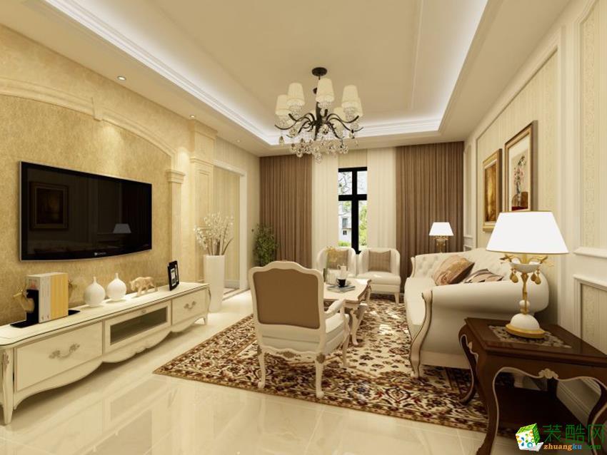 建德市150�O四室两厅装修―九鼎装饰简欧风格设计效果图