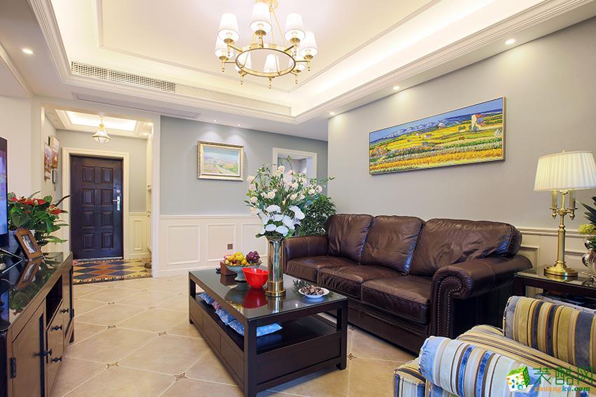 建德市117�O三室一厅装修―九鼎装饰简美风格设计效果图