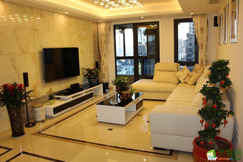 建德市三室两厅两卫装修―九鼎装饰151�O现代简约风格设计作品