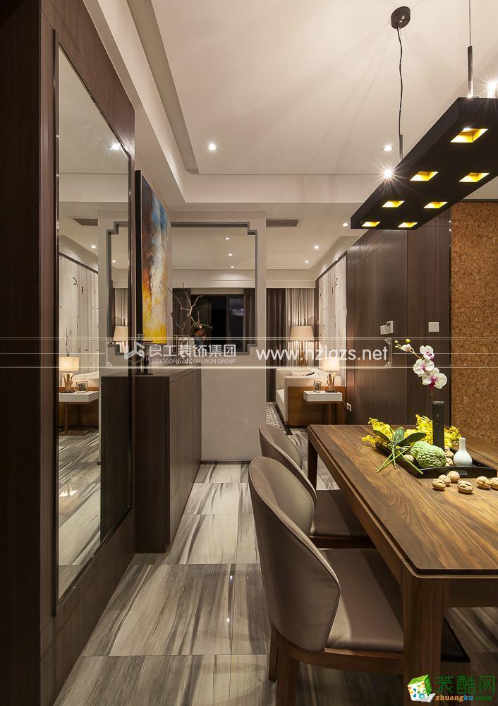 富阳180�O大平层装修―良工装饰新中式风格设计效果图