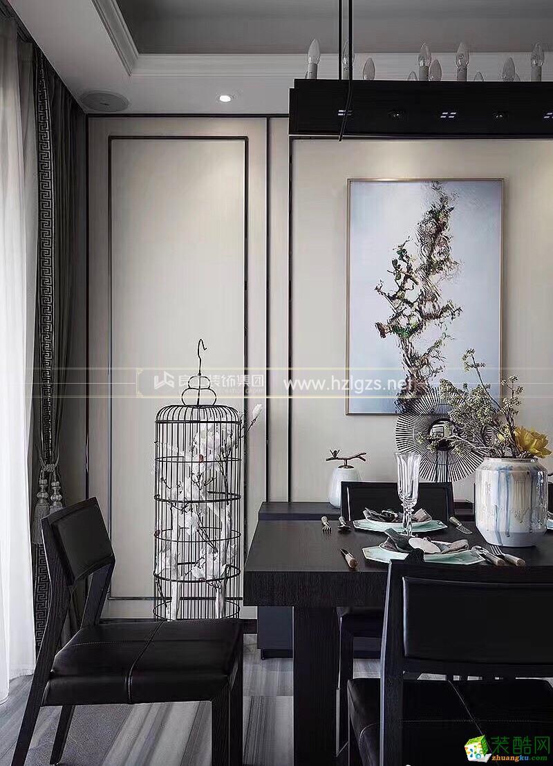 富阳150�O四室两厅装修―良工装饰新中式风格设计作品