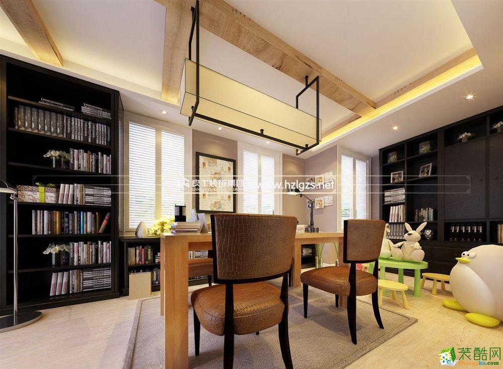 富阳120�O三室一厅装修―良工装饰美式风格设计效果图