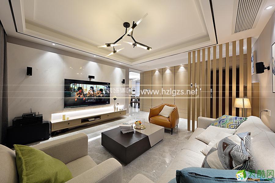富阳130�O三室两厅装修―良工装饰现代风格设计作品