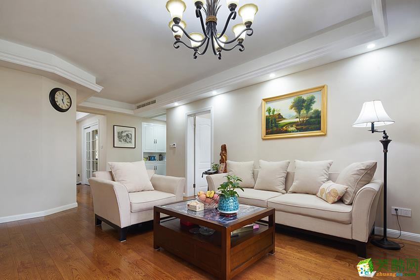 诸暨136方三室两厅装修―九鼎装饰美式风格设计效果图