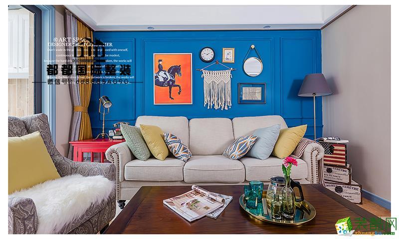 诸暨100�O三室一厅装修―都都装饰简美风格设计作品