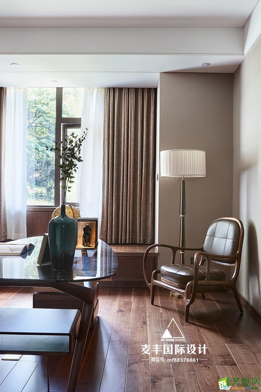 诸暨500�O自建别墅装修―麦丰装饰新中式风格别墅设计作品